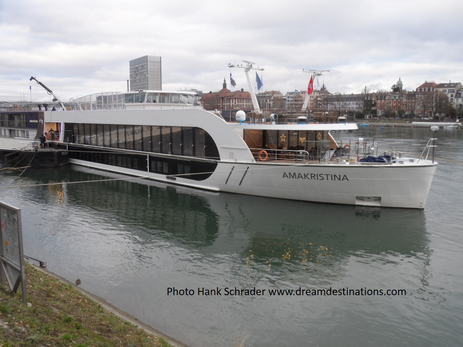 The AmaKristina in port at Basel, Switzerland