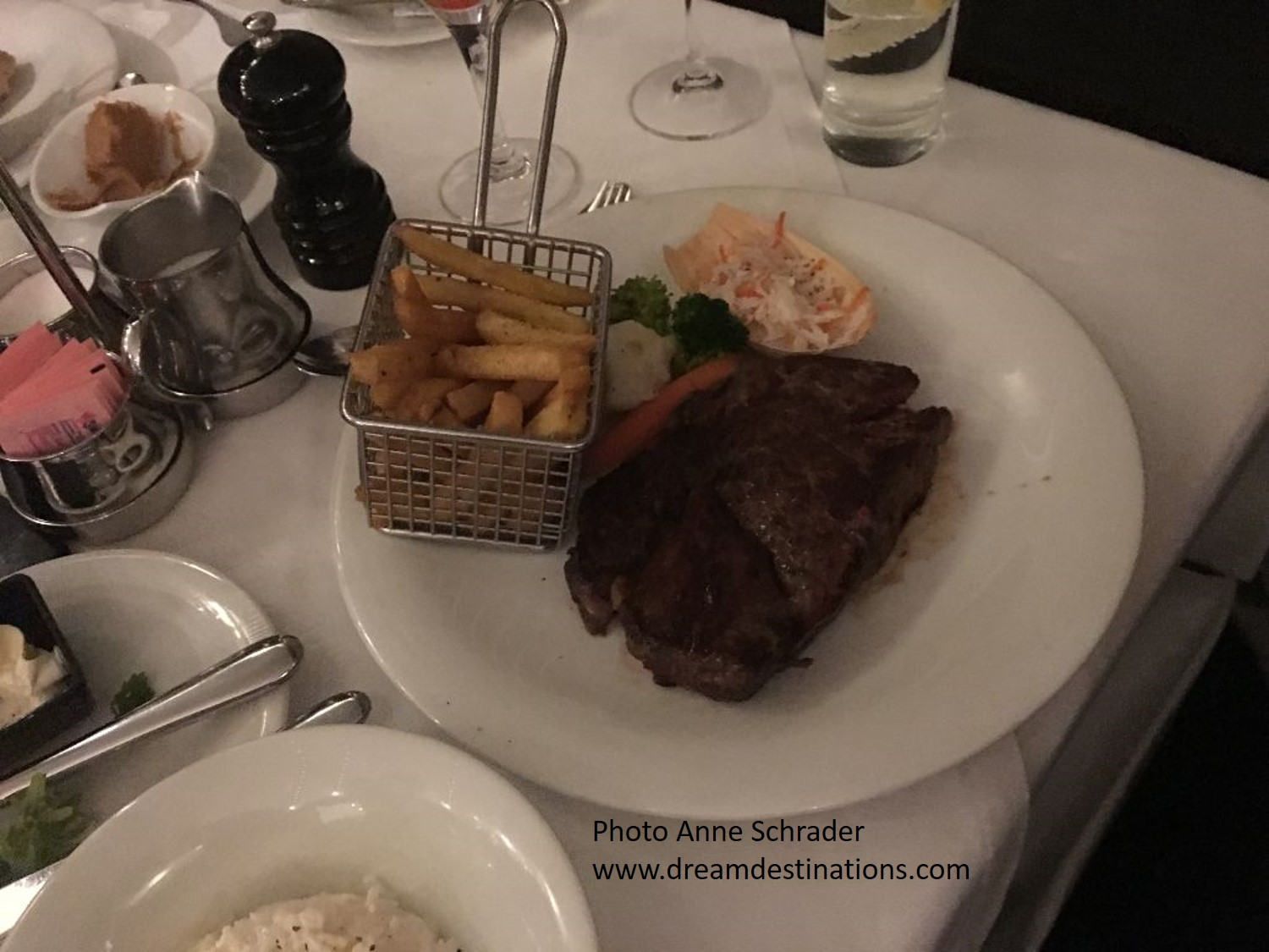 One of the Always Available Option for Dinner—we all raved about the quality of the steak!