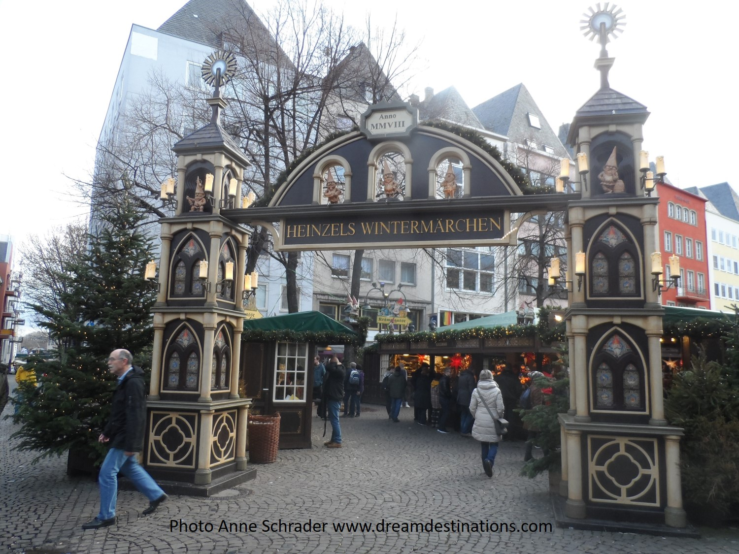 Entrance to the Cologne Christmas Market—this is the Elf's Market—my favorite in Cologne.
