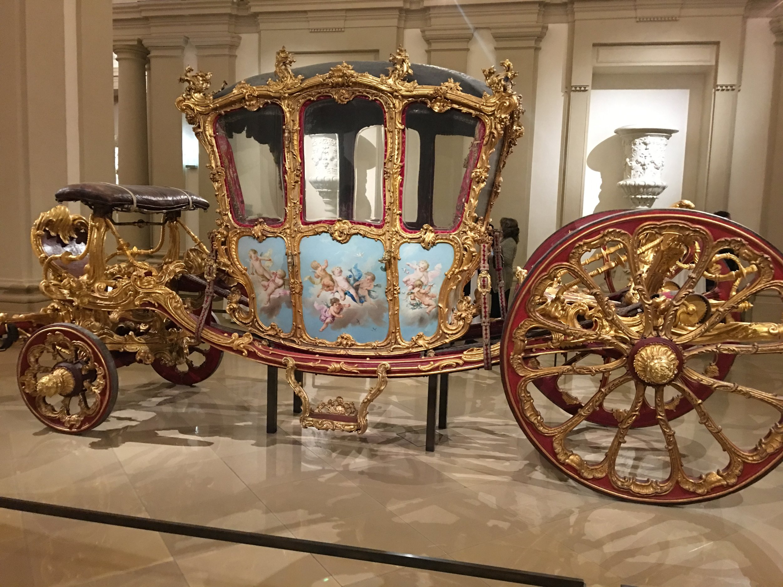 Ornate Carriage on display during our Scenic Opal Danube cruise