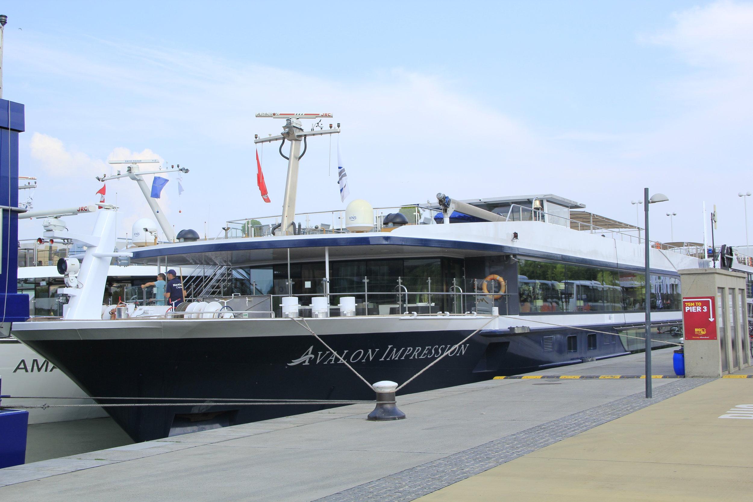 The Avalon Impression in port in Vienna, Austria in 2018