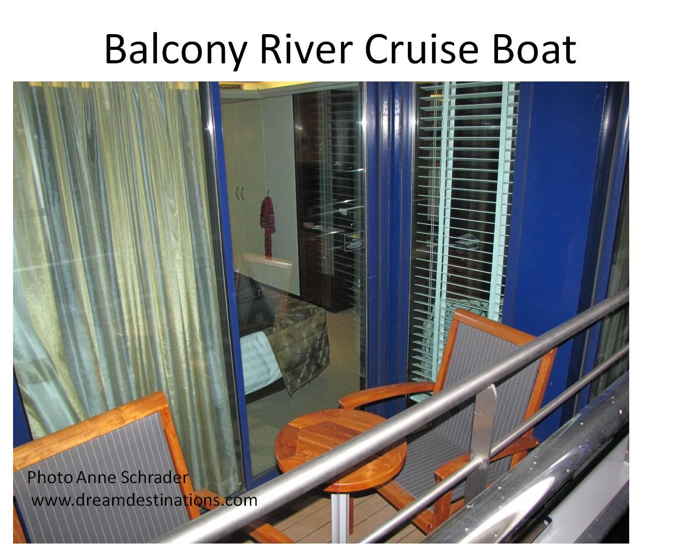 Outside Twin Balcony on an AmaWaterways rivership