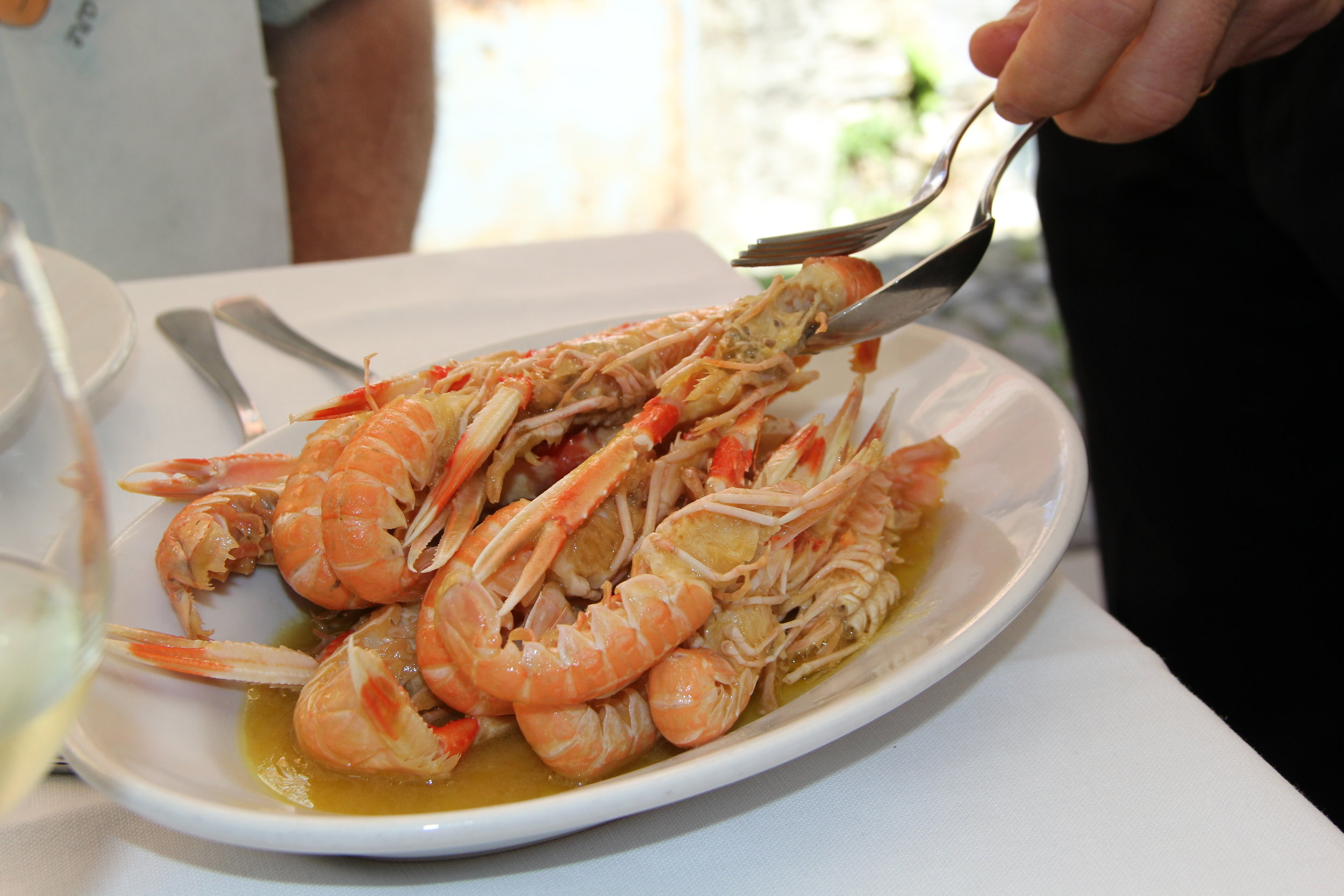 Prawns in Portofino—Are you hungry? They tasted as good as they looked!!