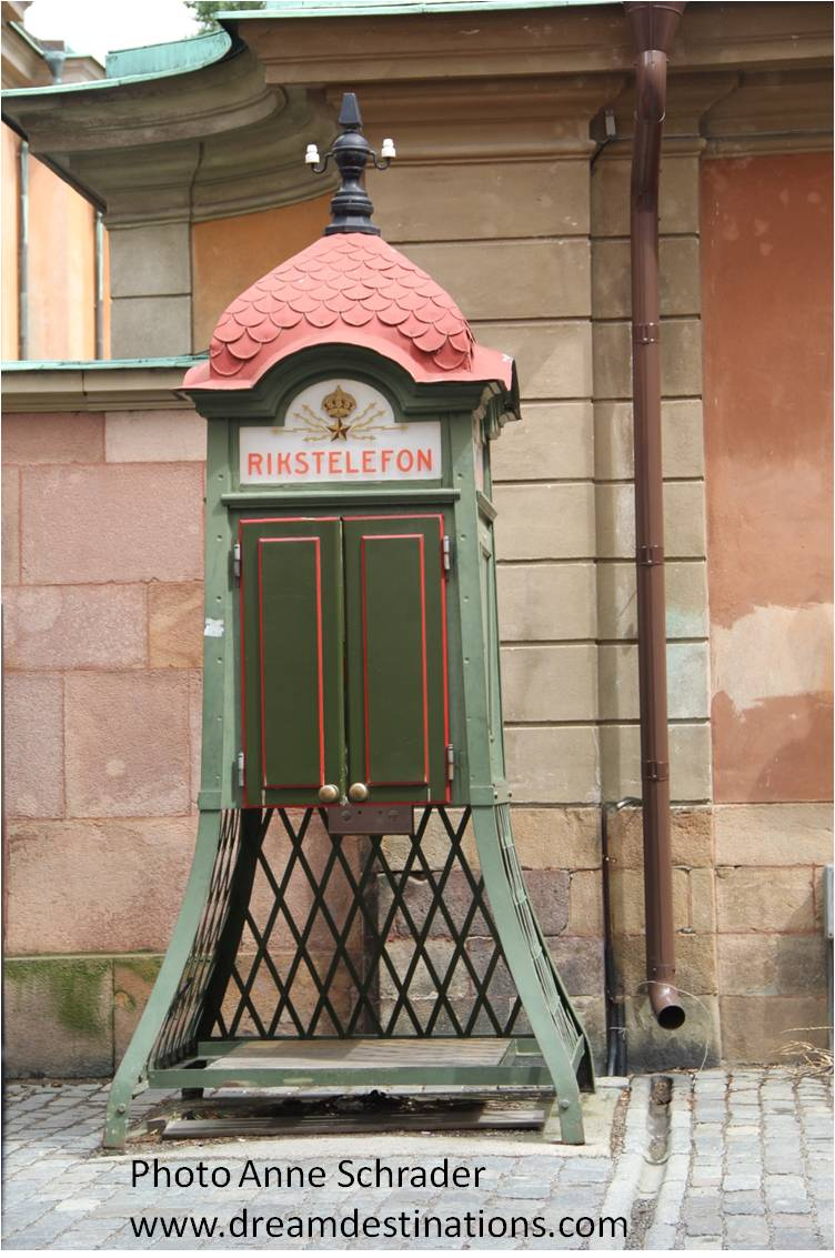 Old Phone Booth in the Old Town of Stockholm