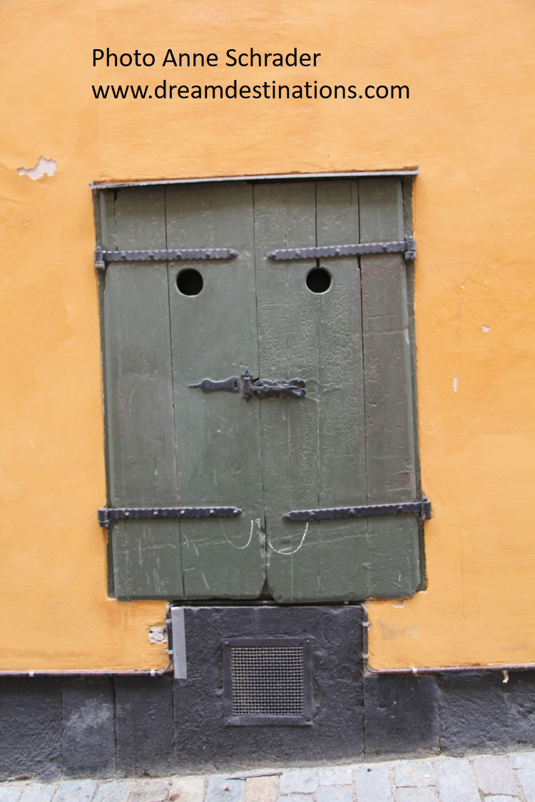 Old Town Stockholm Door—sure looks like a face to me!
