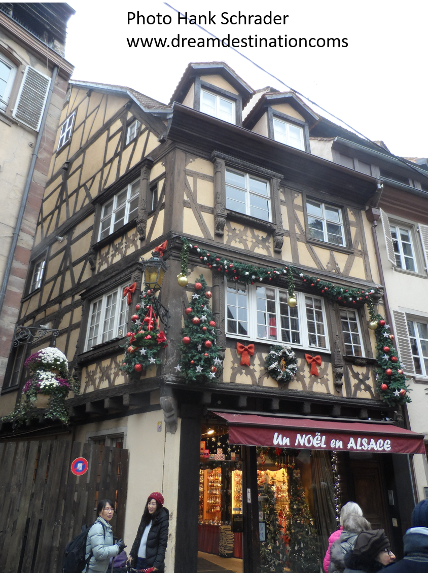 Christmas decorations in Strasbourg, France
