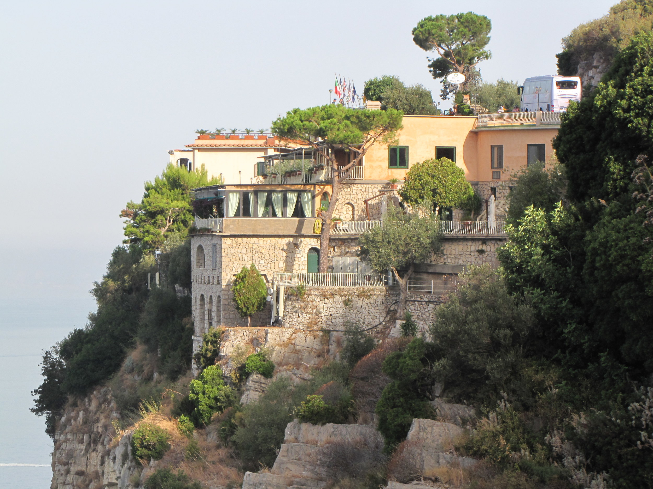 A cliff side villa on the Amalfi Coast