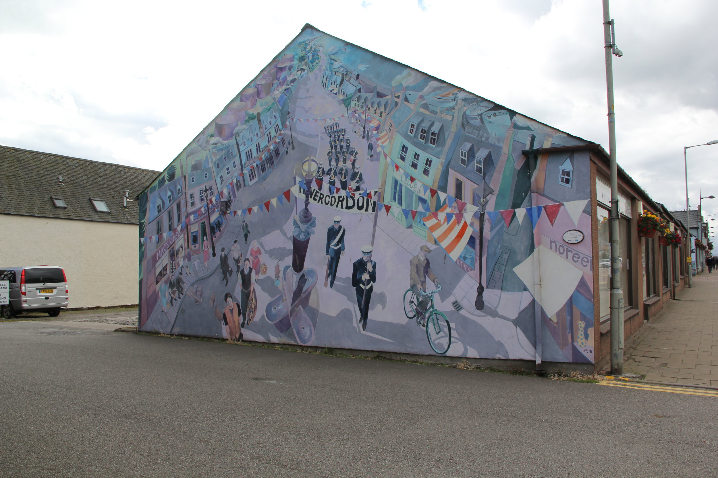 #1 of 9 Invergordon Wall Murals—Parade Time—this remembers the Royal Marines who were stationed here for many years.