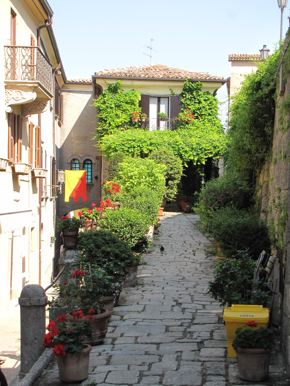 A small street in San Marino