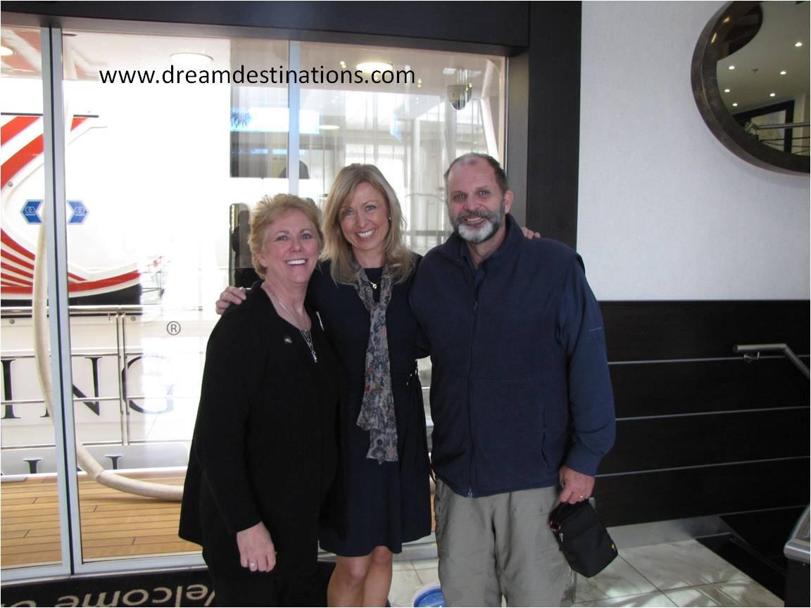 Anne, Kristen Krast (an owner of AmaWaterways) and Hank