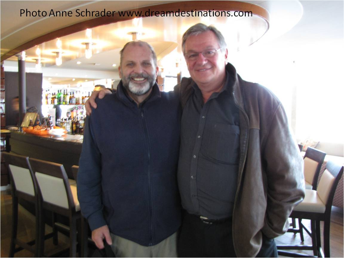 Hank with Rudi Schreiner (left)—the Godfather of Europe River Cruising