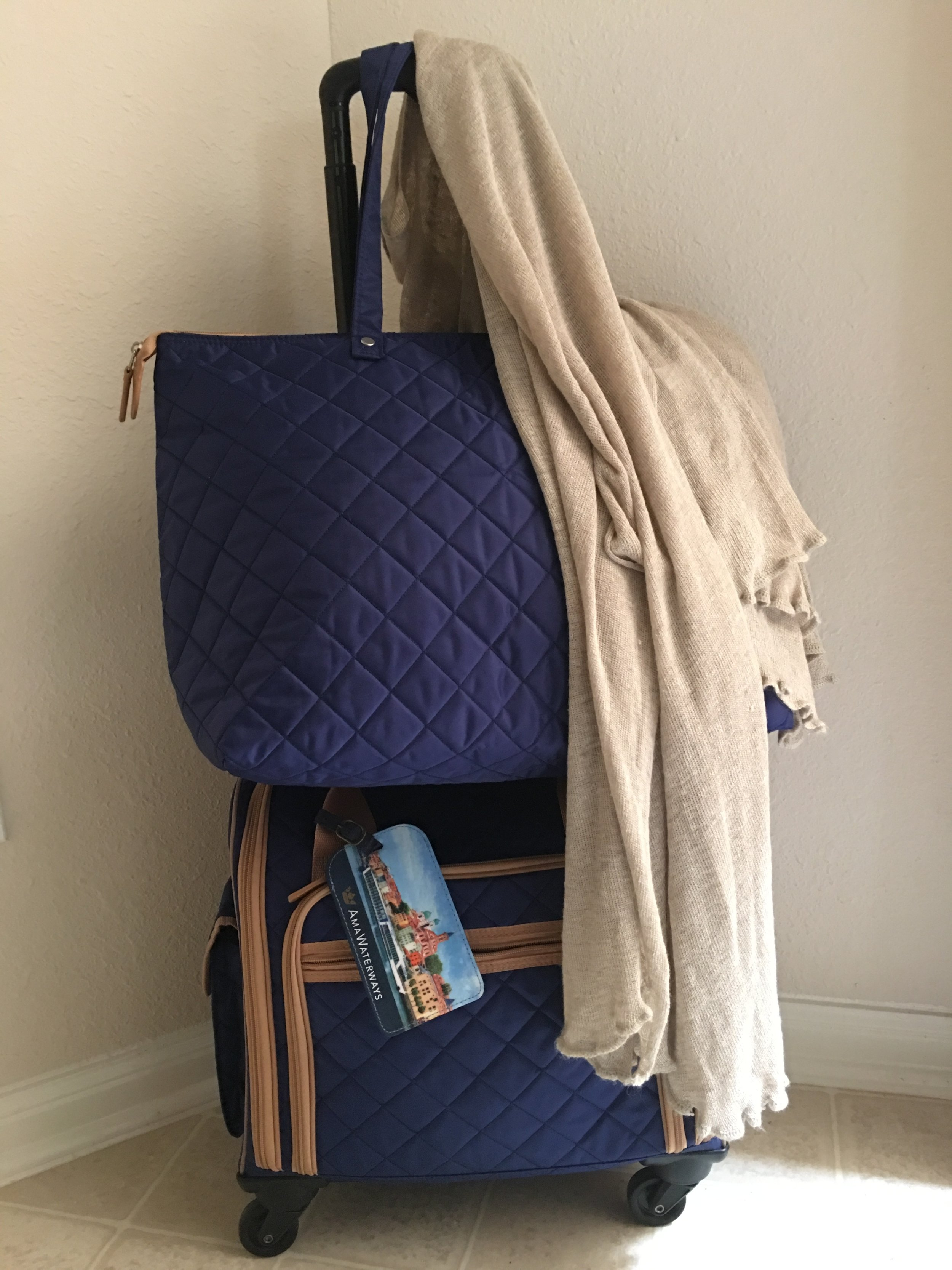Anne's Rolling Carry-on bags when she travels to Europe