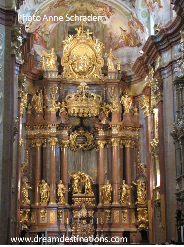 Inside Melk Abbey