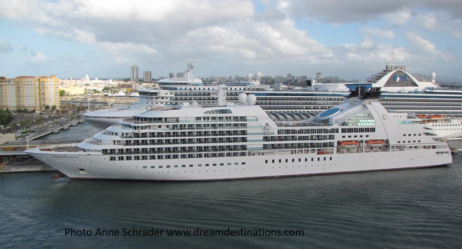 Seabourn Quest in port—great luxury ship