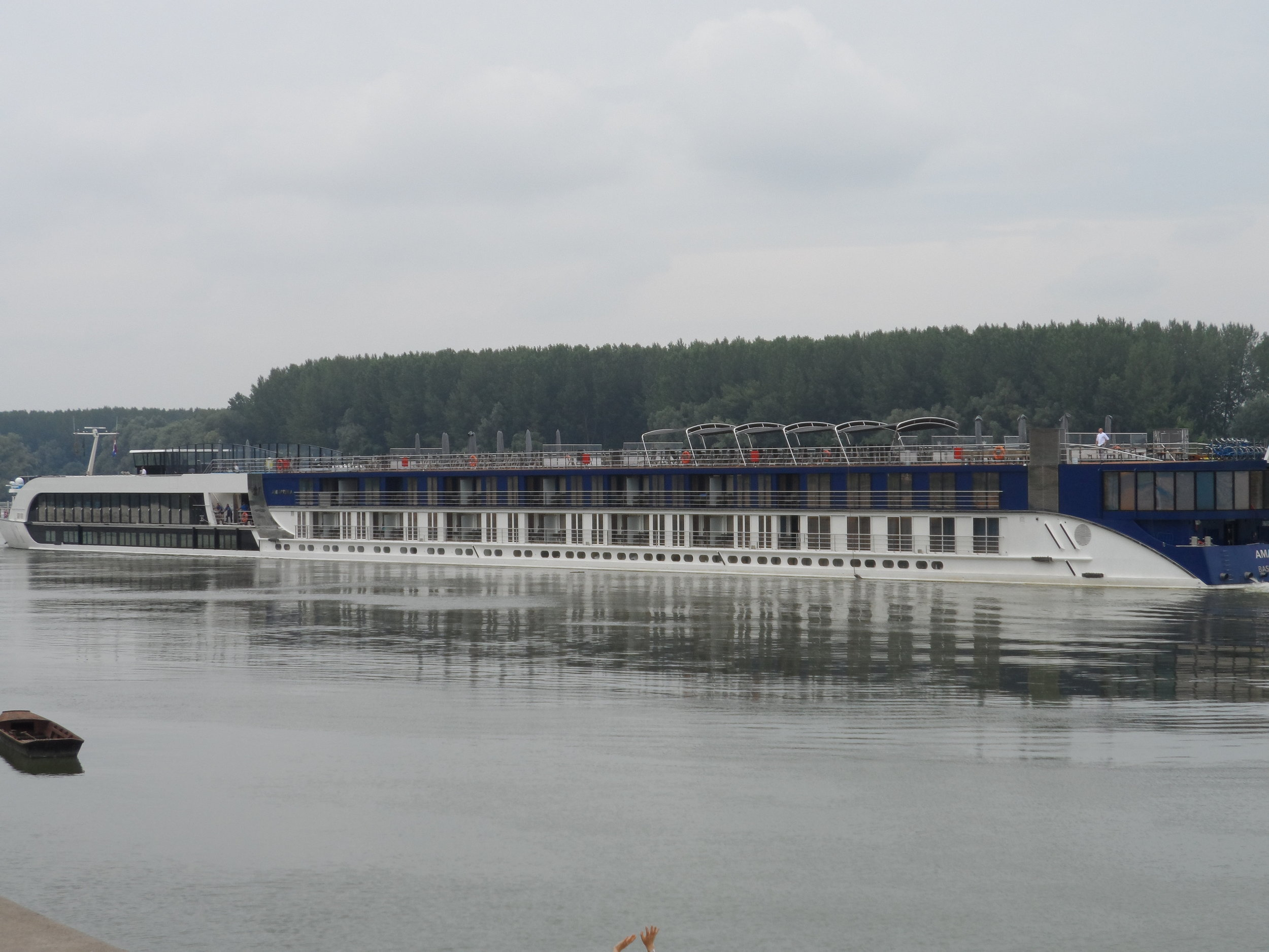A much smaller luxury rivership—holds 156 passengers—what a size difference between this vessel and an ocean cruise ship!