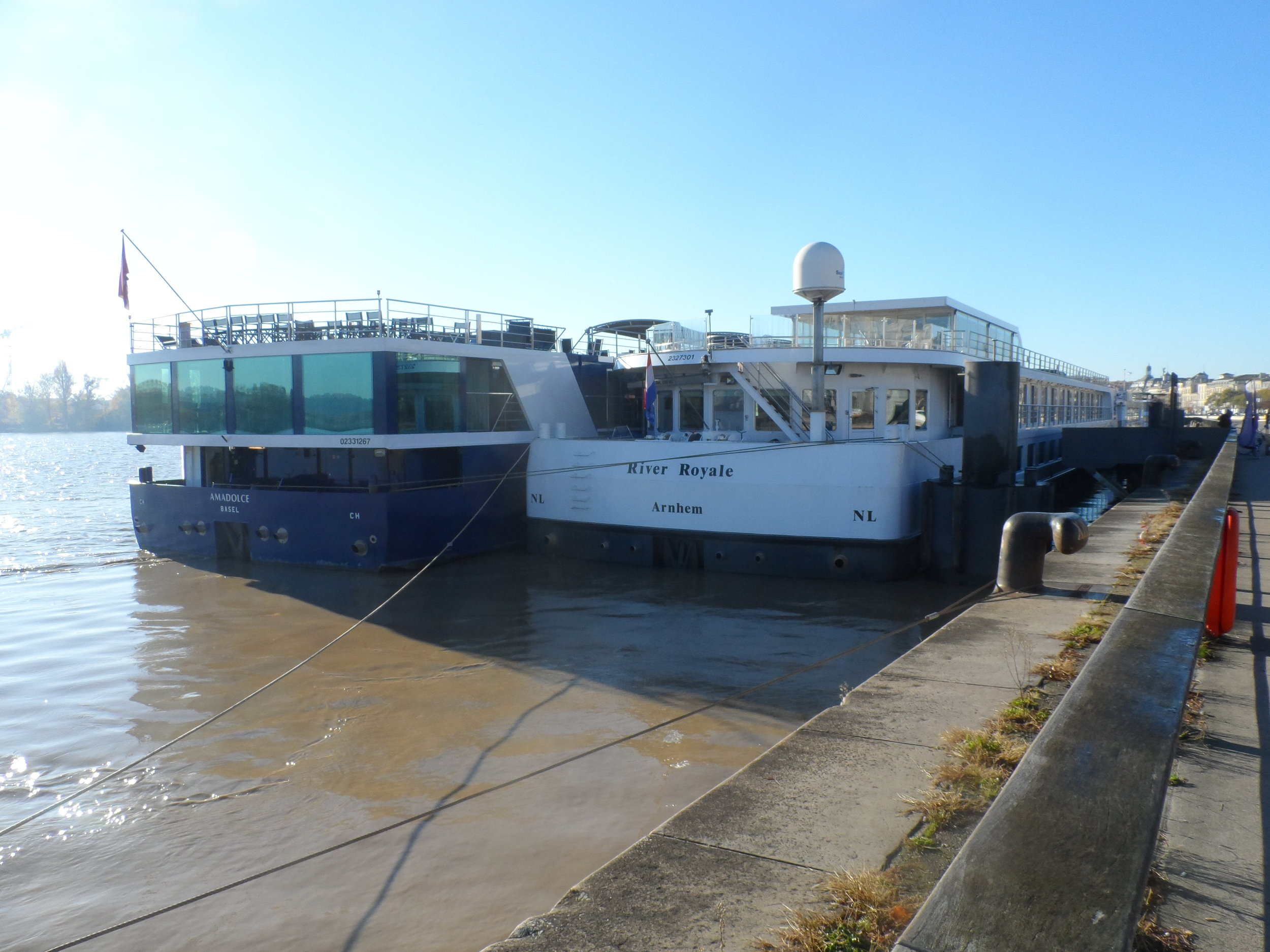Two great riverships rafted together—the AmaDolce of AmaWaterways and Uniworld's River Royale—which is better for your vacation?