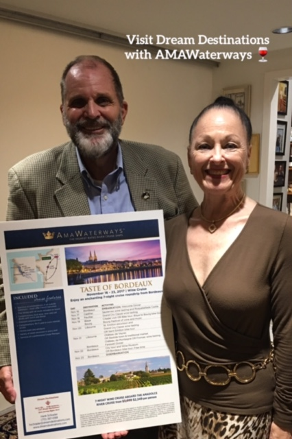 A joint presentation—Hank with Sheila, our AmaWaterways Business Development Manager—we presented about French River Cruises