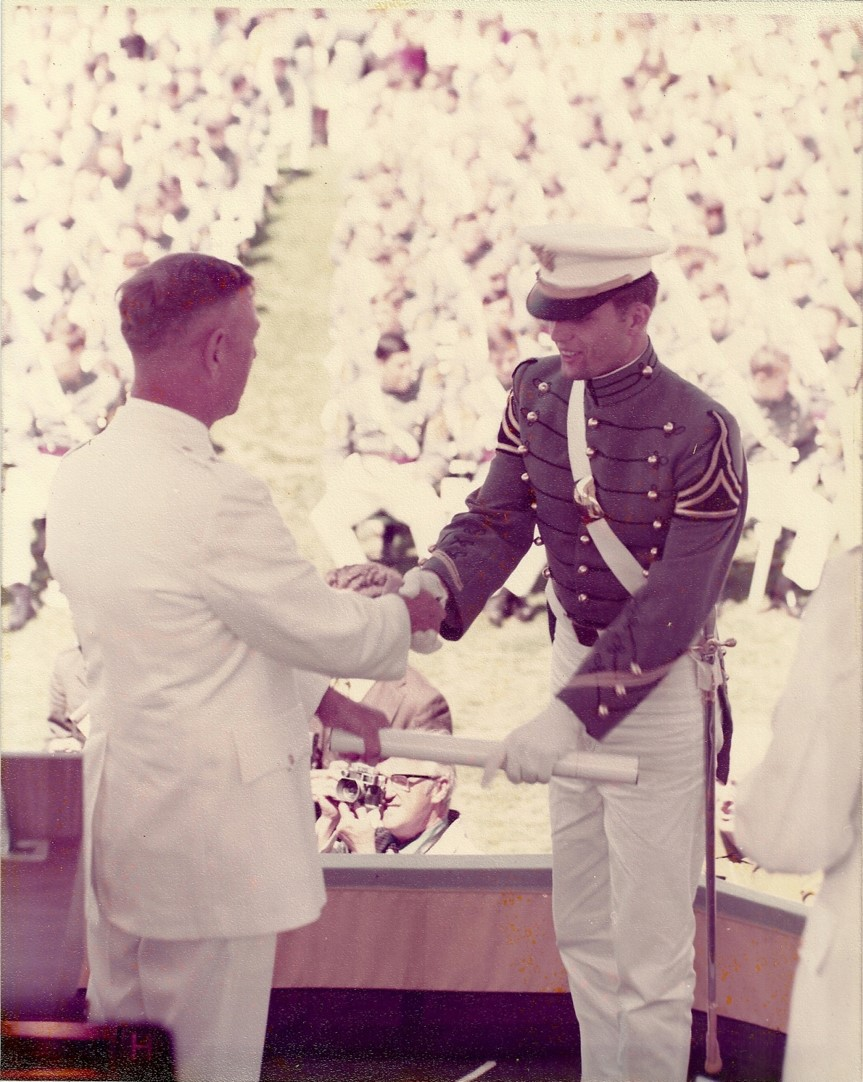 Hank graduating from West Point in 1971—48 years ago!