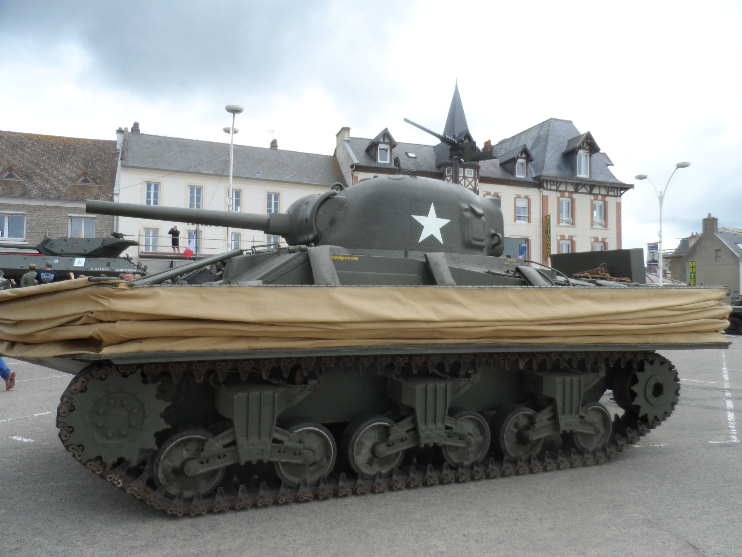 Floating Tank outside the D Day Landing Museum 2019