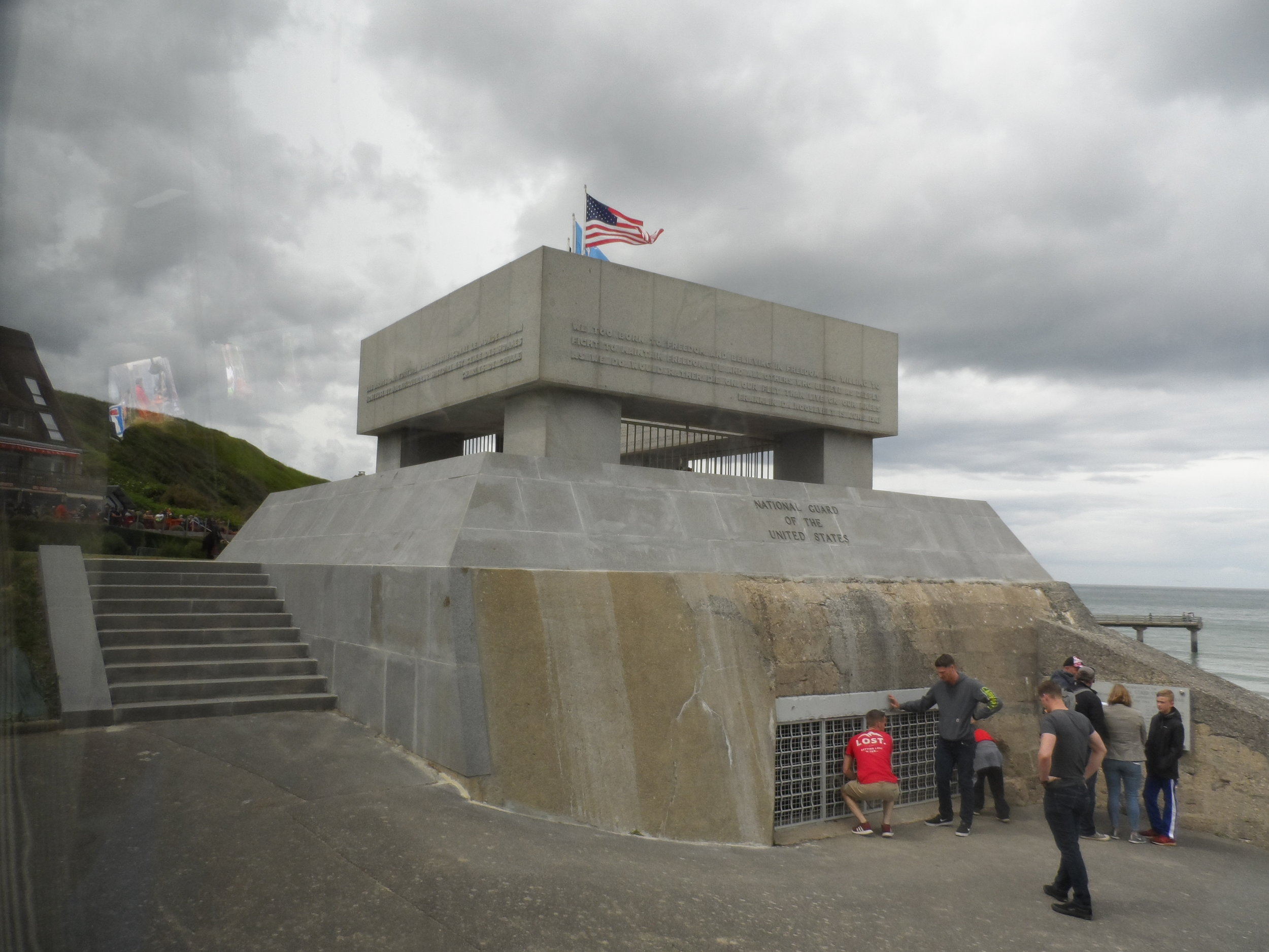 29th Memorial was built over this actual bunker on Omaha Beach 2019