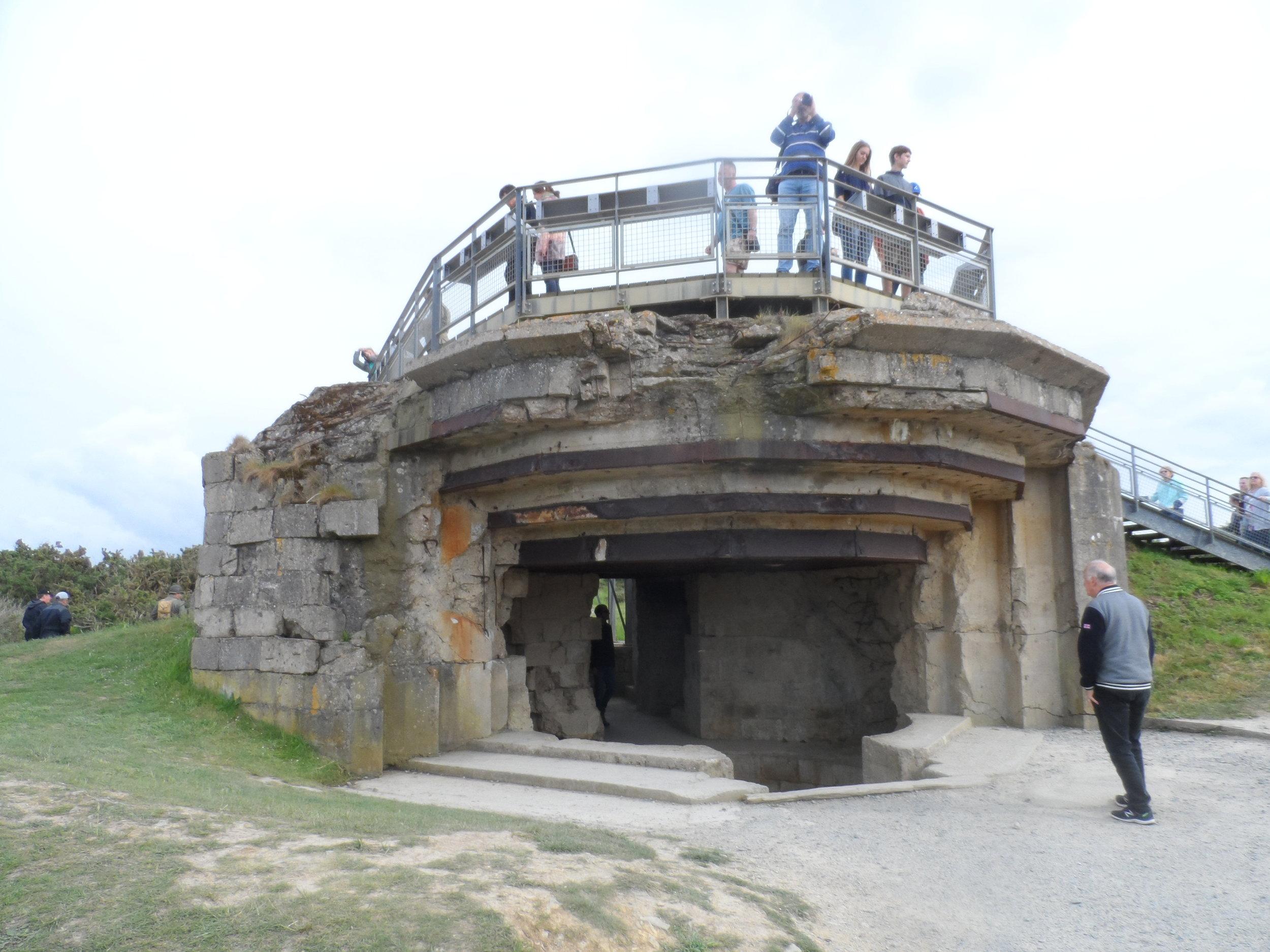 Pointe du Hoc Gun Bunker 2019
