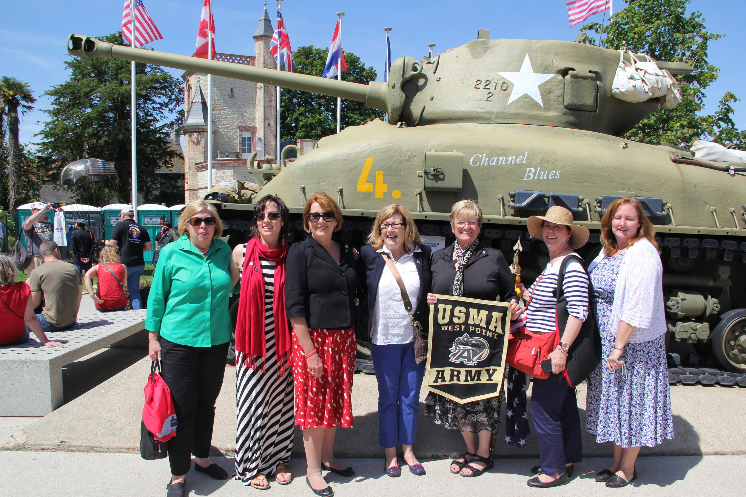 Ladies of our D Day Tour 2014
