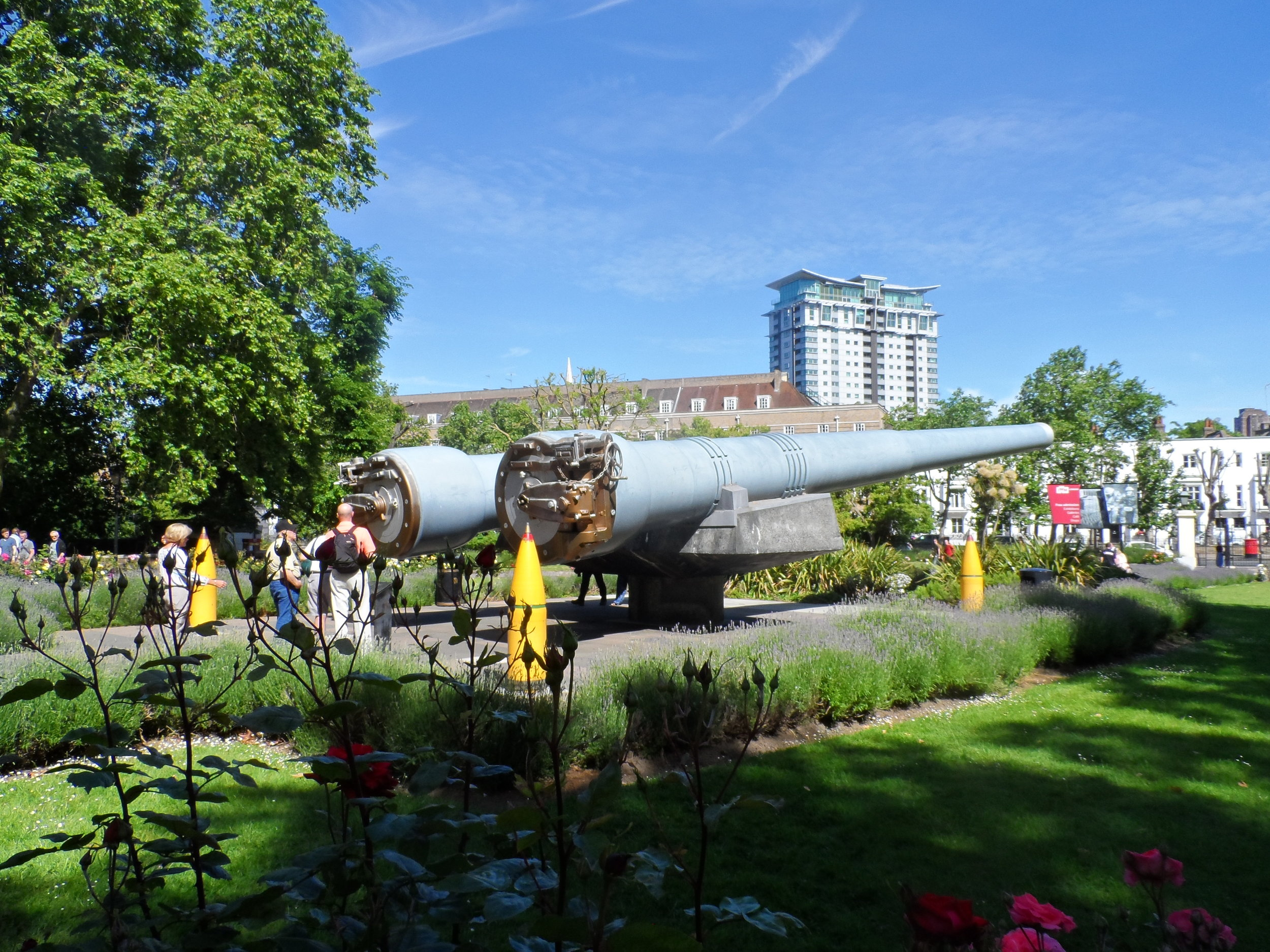 15 Inch Battleship Cannons outside the Imperial War Museum