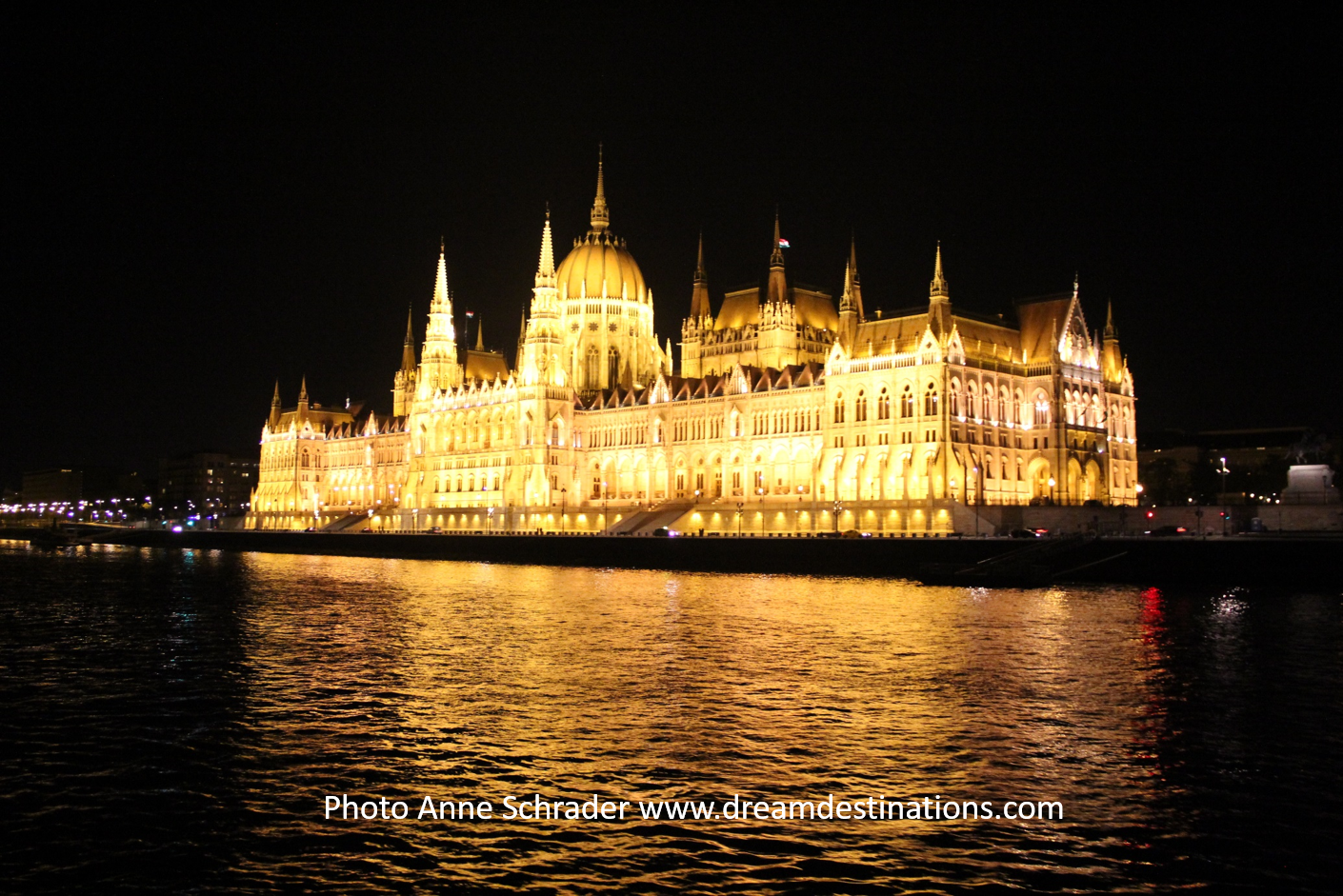 What a stunning site—Budapest Parliament at night!