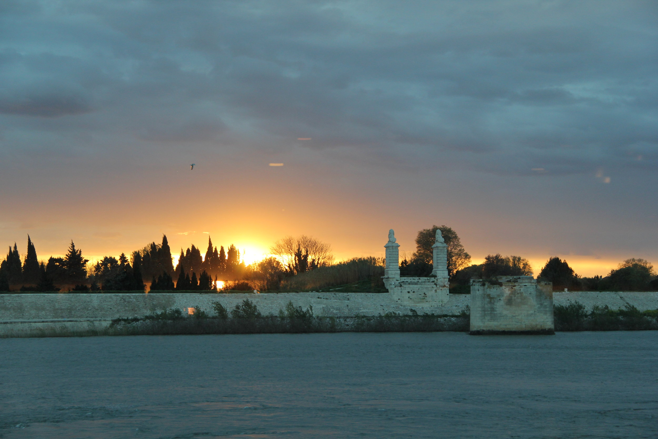 Sunset in the Port of Arles