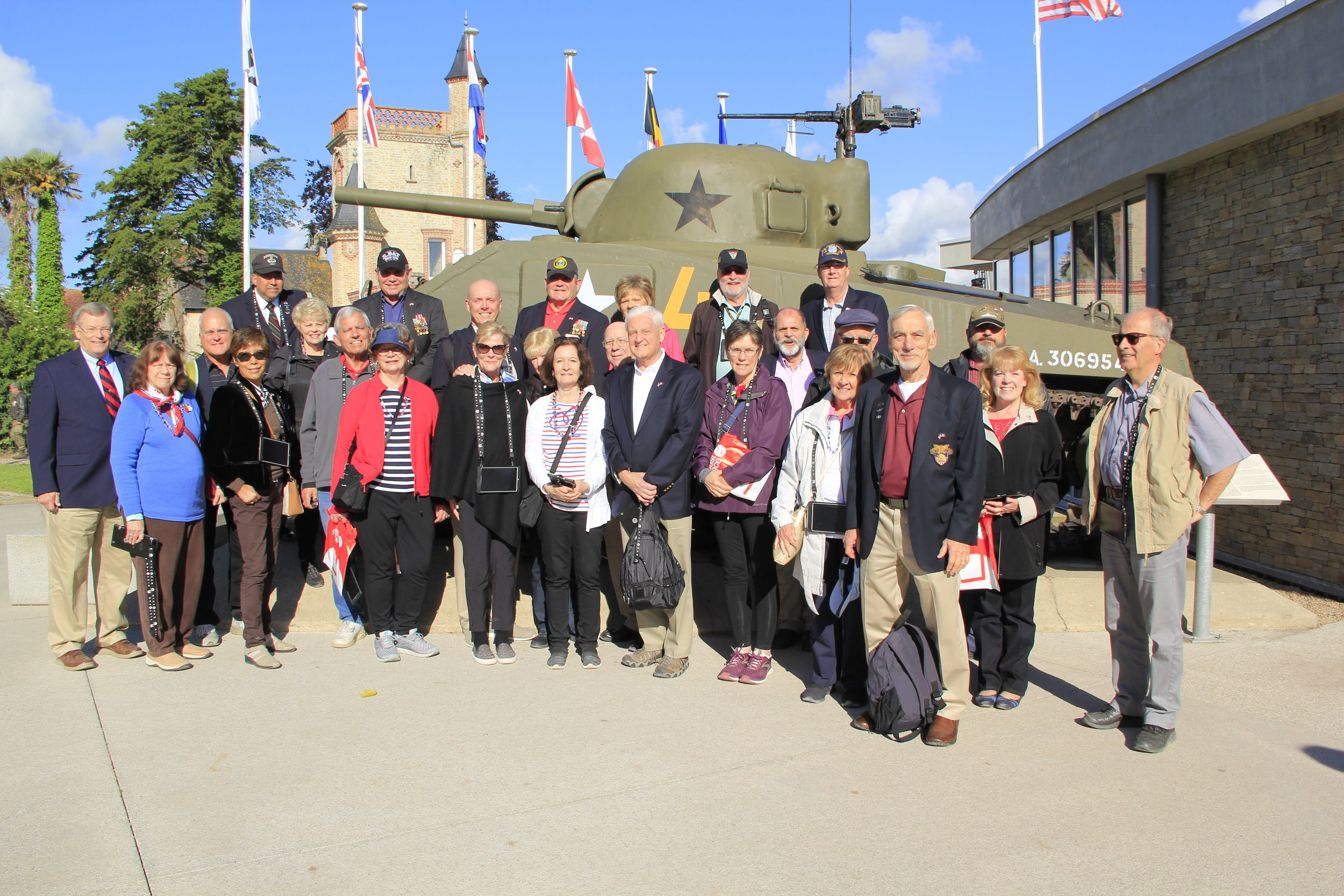 Some of Our D Day Folks at the Airborne Museum Ste. Mere Eglise 6 June 2019