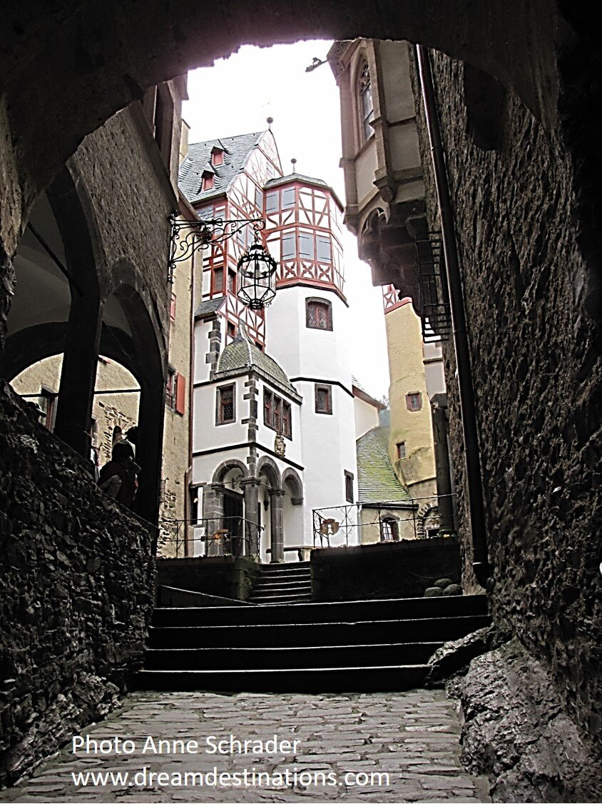 Going into the Small Courtyard of Burg Eltz