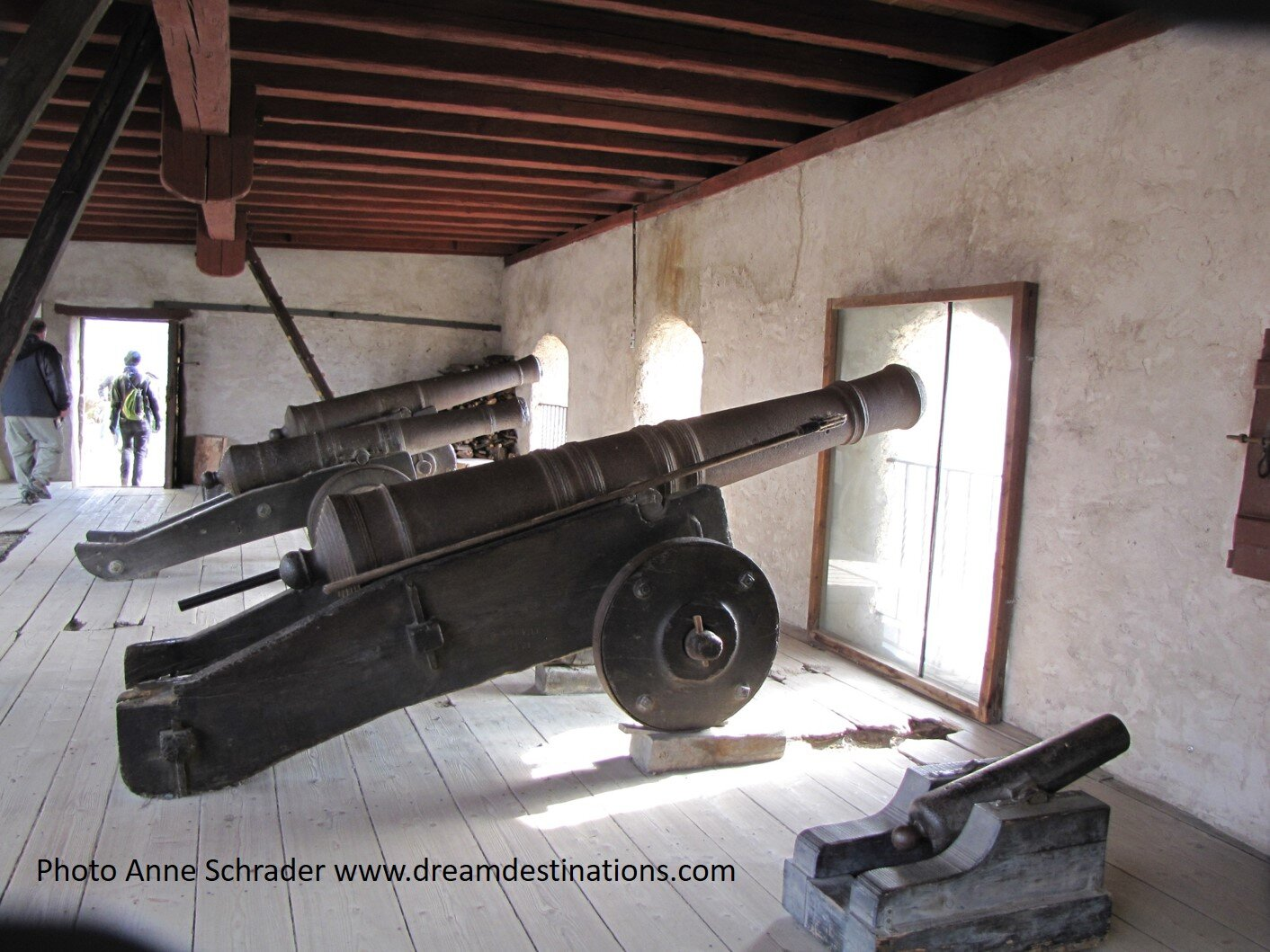 One of the Artillery Batteries at Marksburg Castle