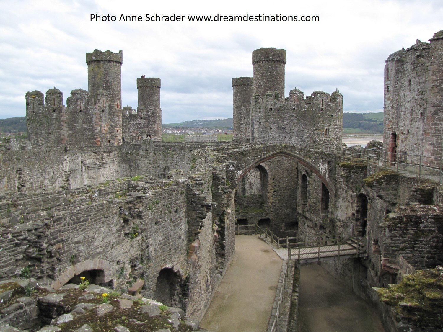 The interior of Conwy Castle