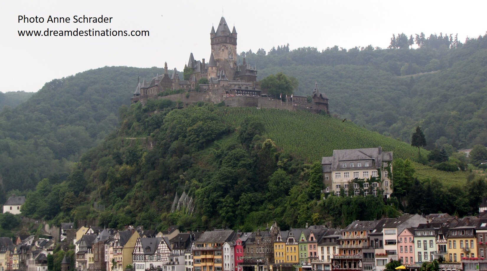 Reichsburg Castle on the hill above Cochem by the Mosel River
