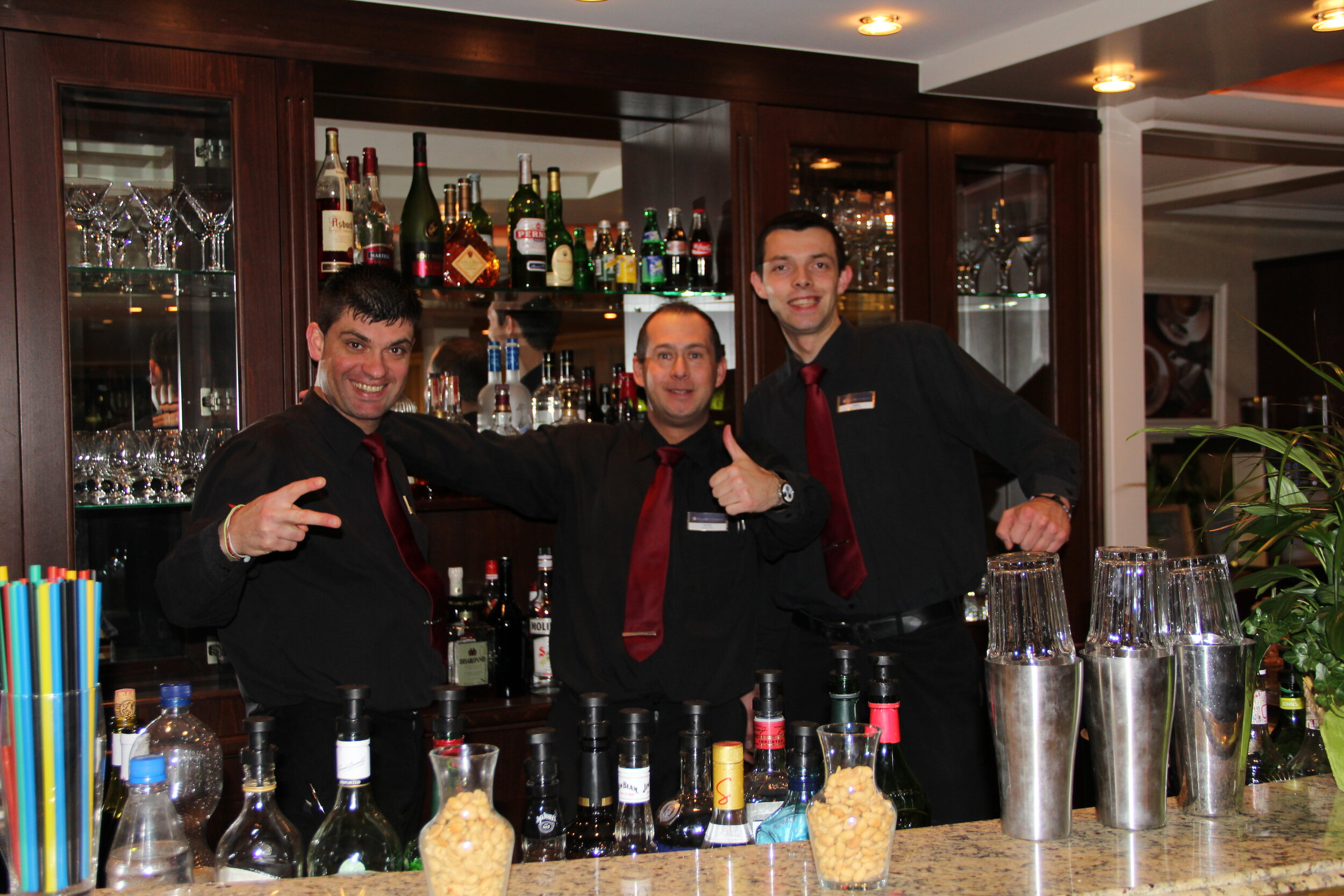 Bar Staff on the AmaDagio 2013—right to left, Miro, Peter and Tomas—awesome folks!