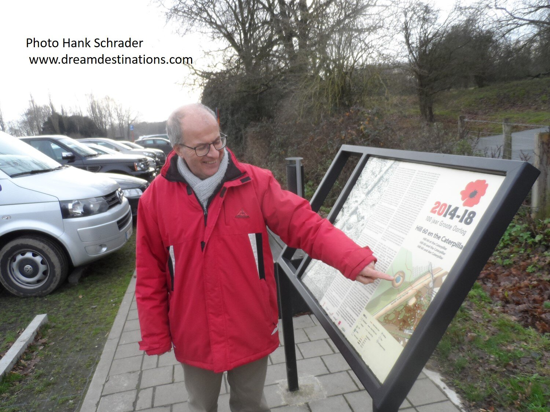 Johan explaining about WW I on a tour