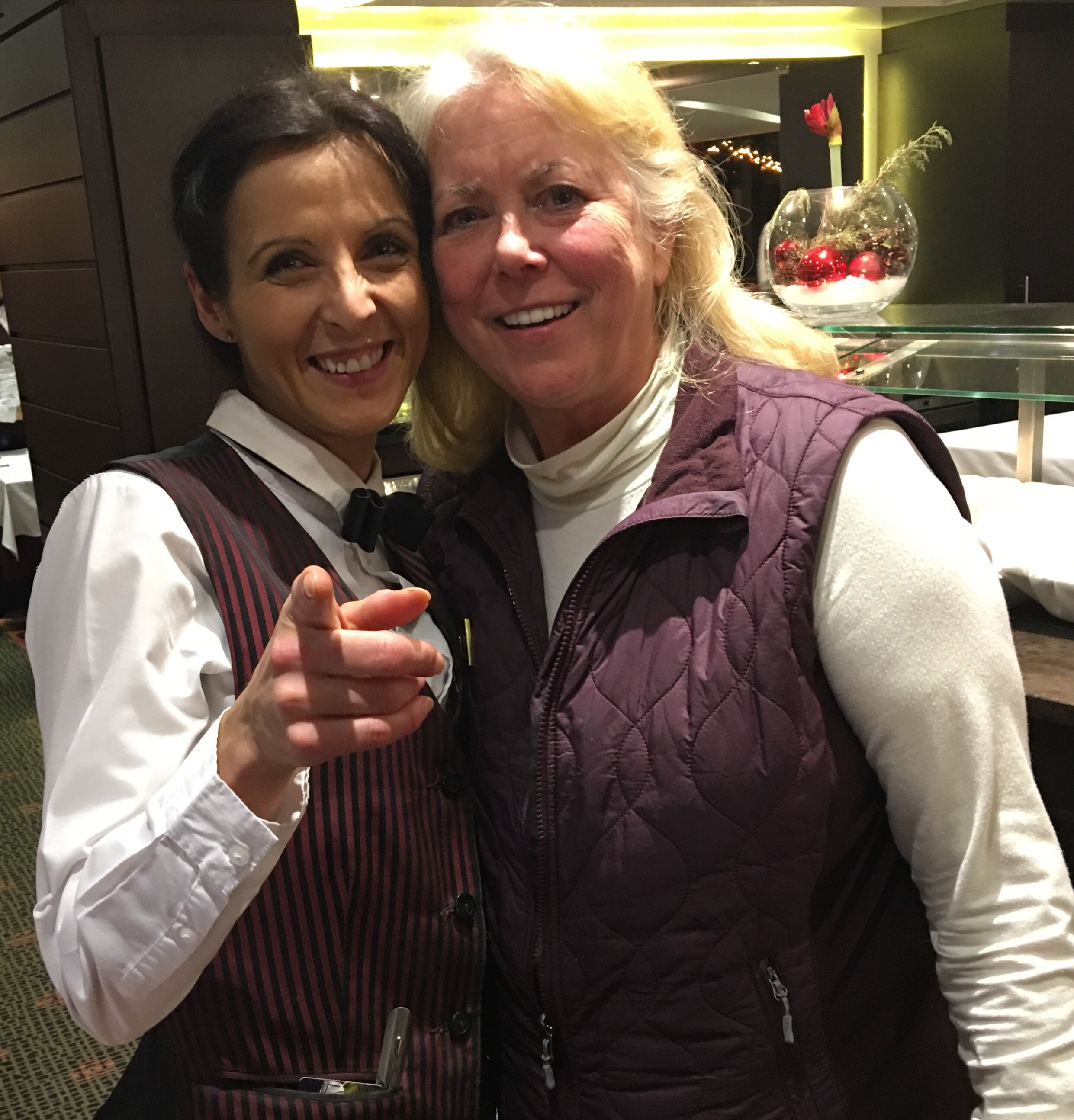 Tania and Anne on an AmaWaterways cruise—real appreciate from my wife!
