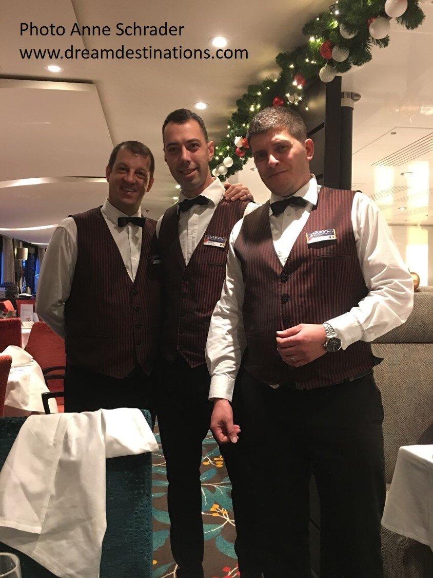 Some awesome waiters on the AmaKristina