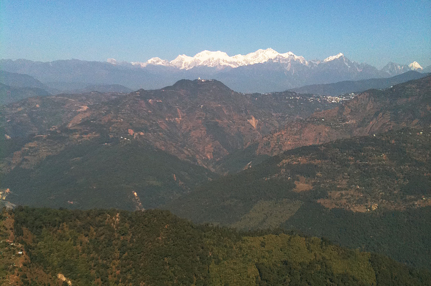 Views Right Accross the Himalayas