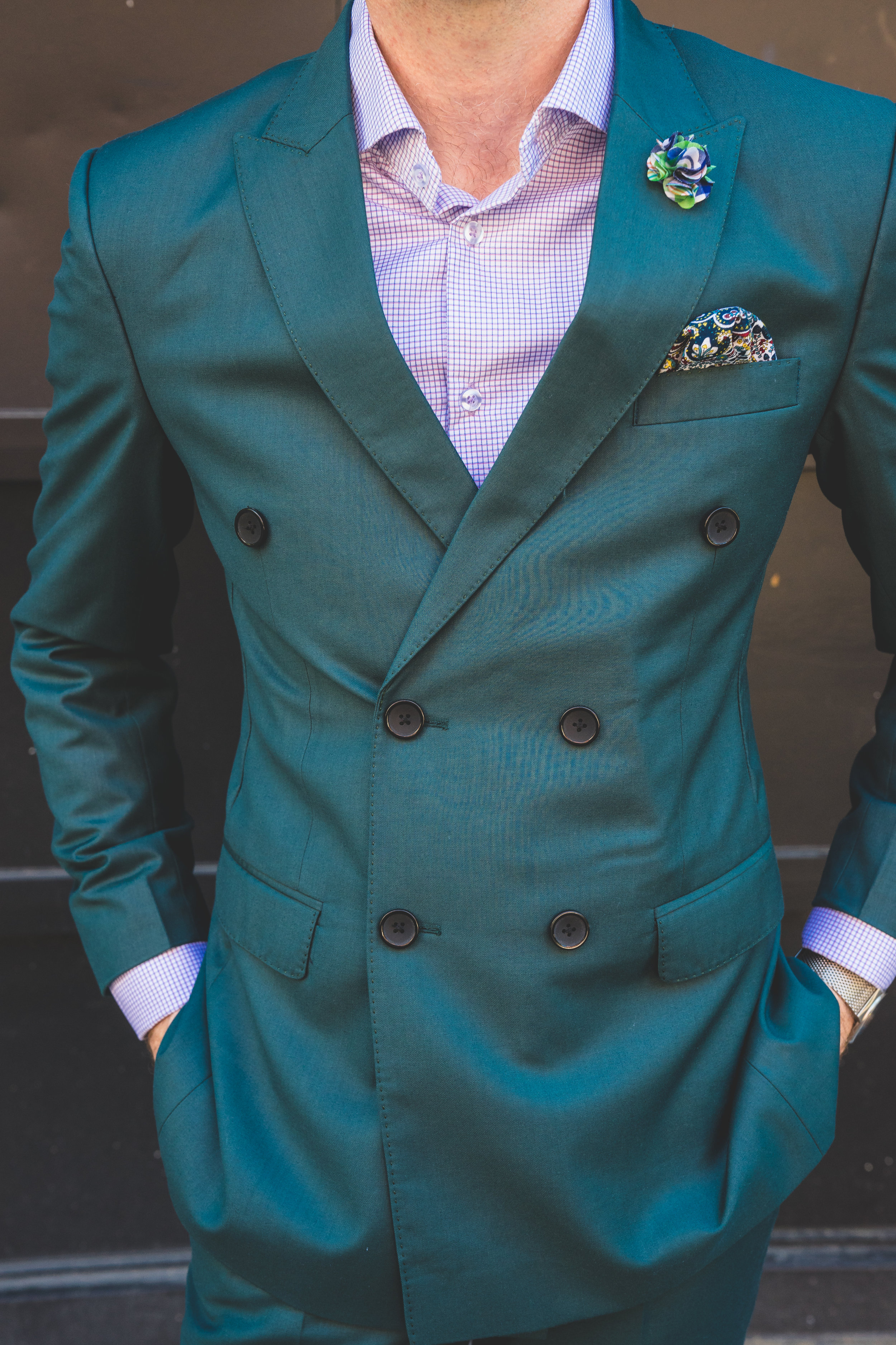 Men's Tailor Made 2-Piece Forest Green Suit