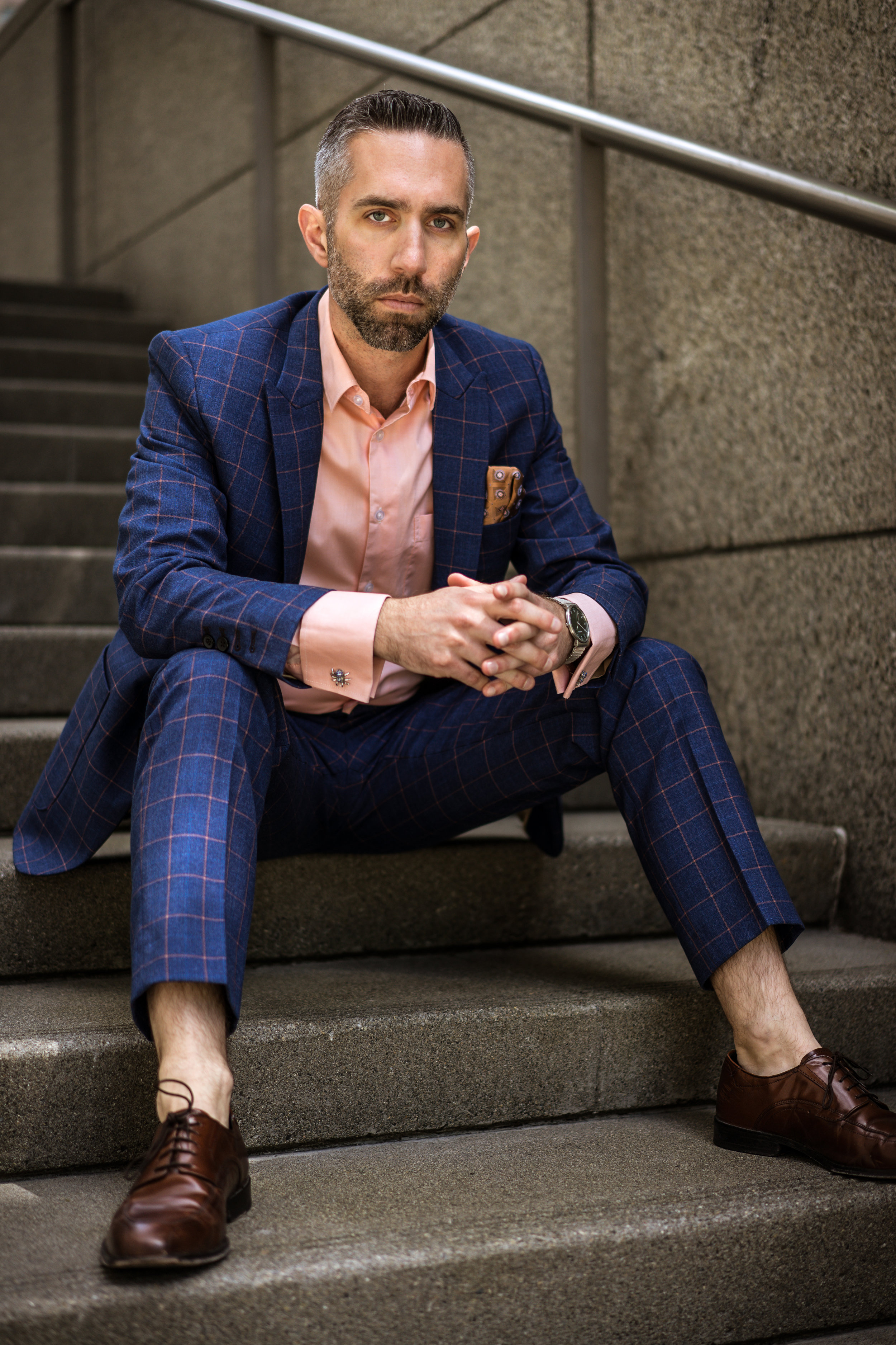2-Piece suit ($120), dress shirt ($16)
