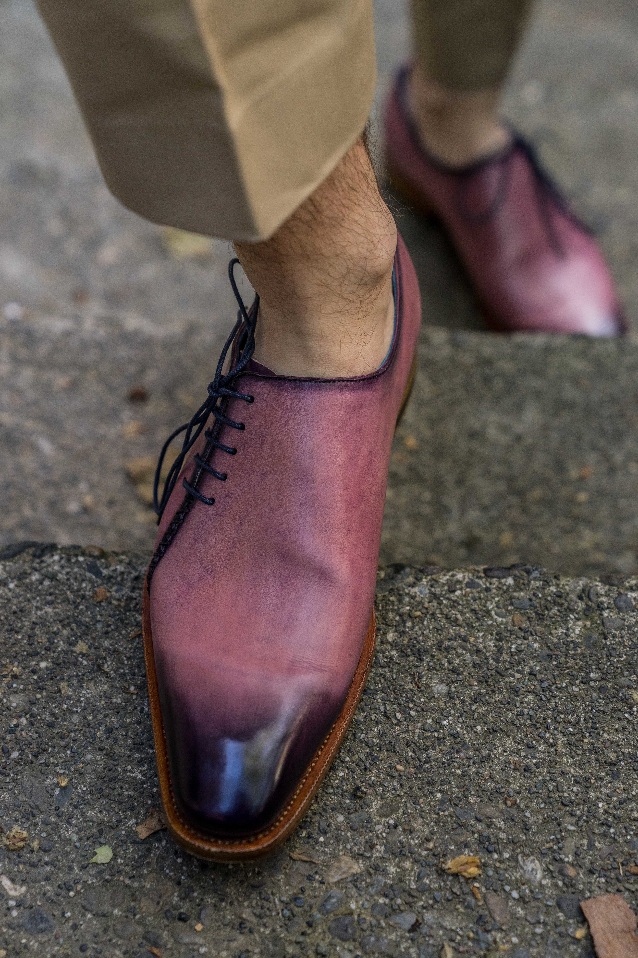 Men's Bespoke Purple Shoes