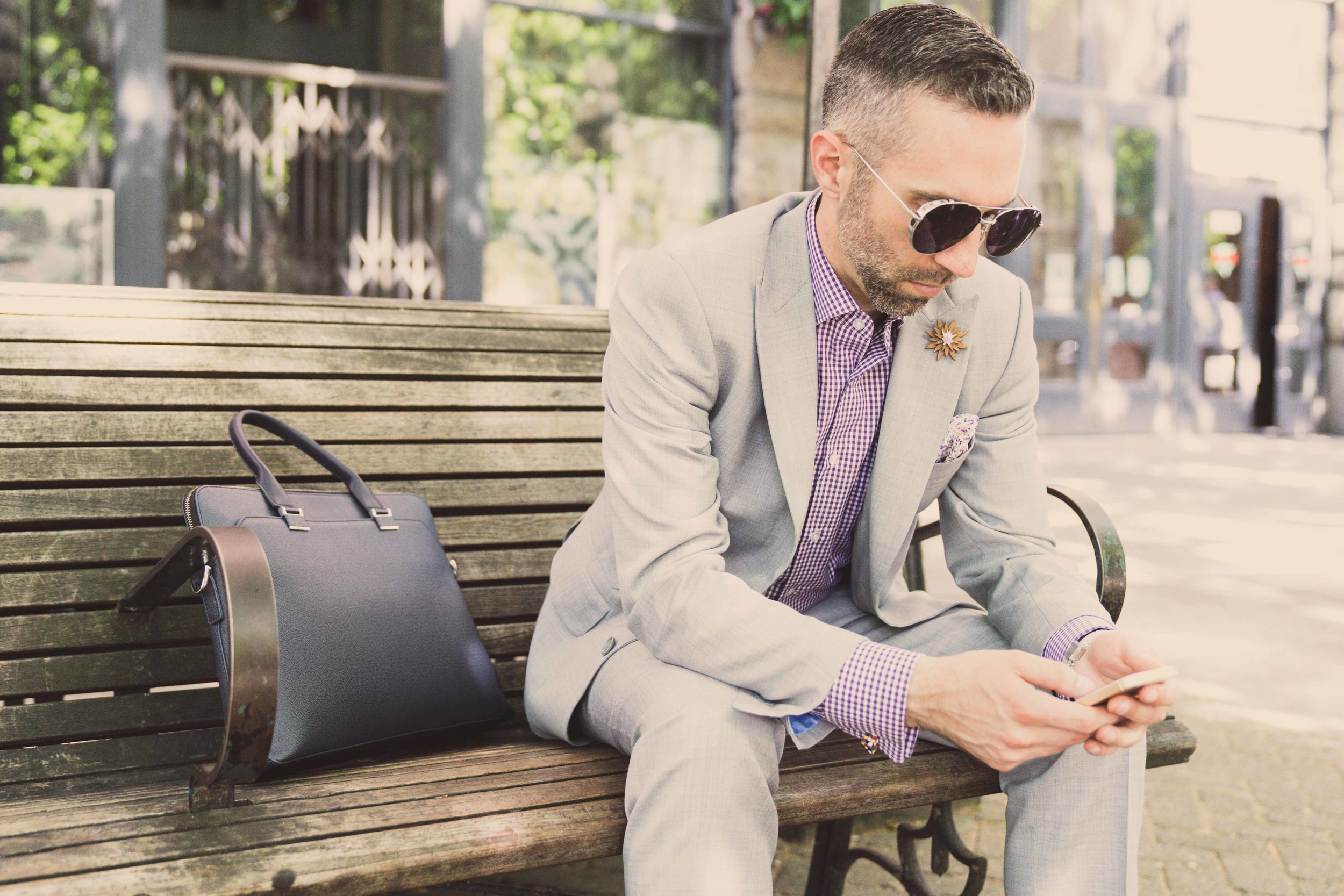 Men's Tailor Made 2-Piece Gray Suit