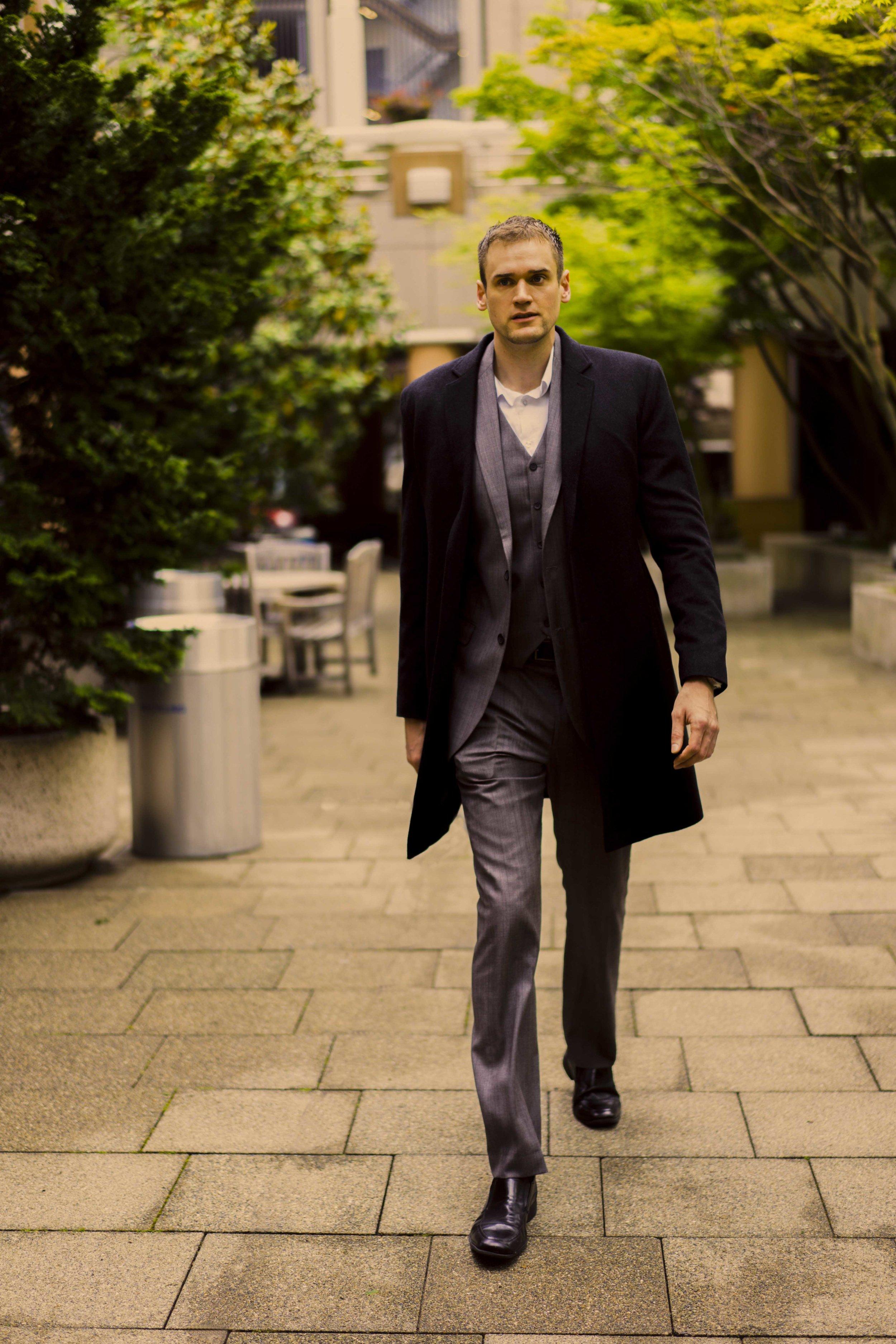 Men's Tailor Made Black Bespoke Coat