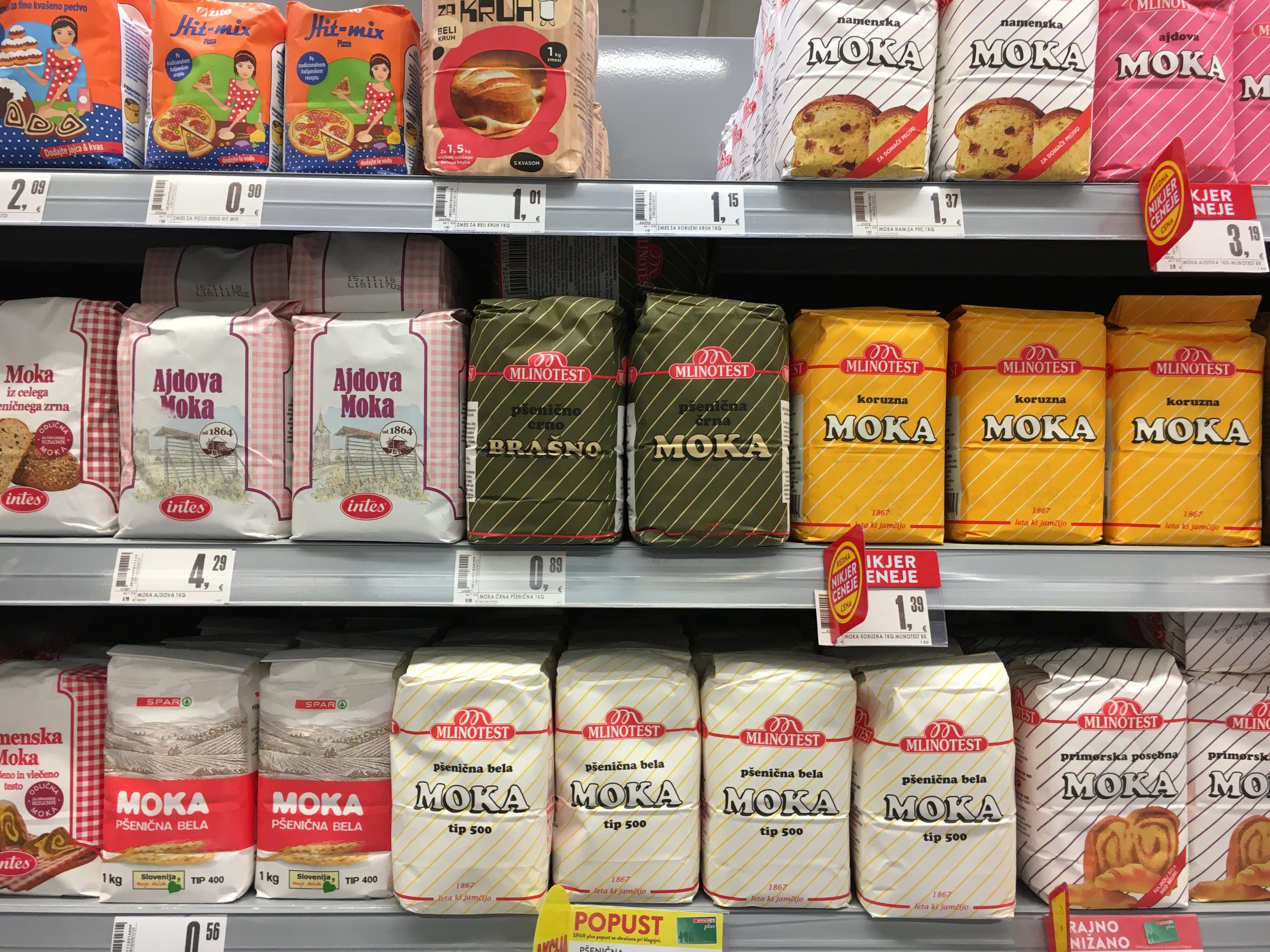 Joskus sitä vain seisoo valintojensa edessä ja kaikki näyttää ihan slovenialaiselta jauhohyllyltä.