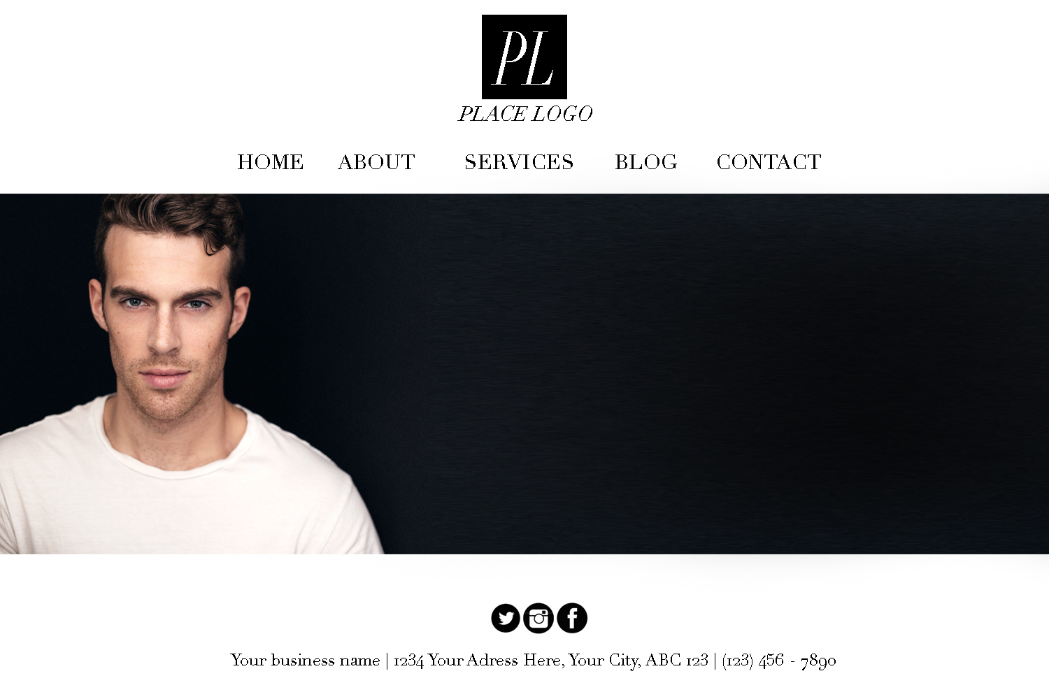 Example of a website banner created from the above headshot.
