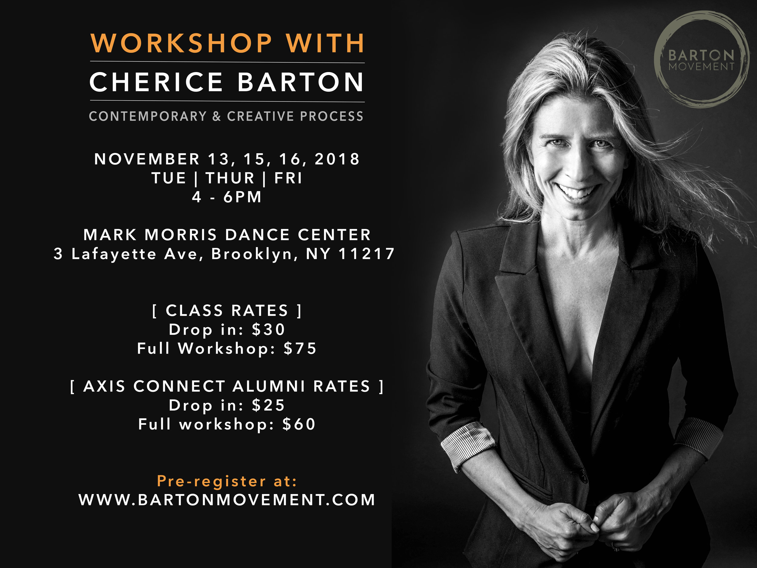 NYC Workshop with Cherice Barton
