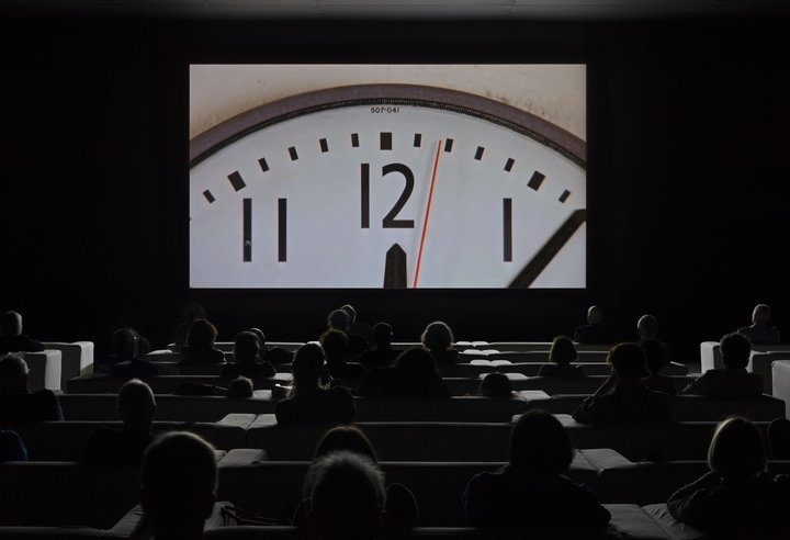 Christian Marclay,  The Clock  2010. Single channel video. Duration: 24 hours © the artist. Courtesy White Cube, London and Paula Cooper Gallery, New York. Photo: Tate Photography (Matt Greenwood)