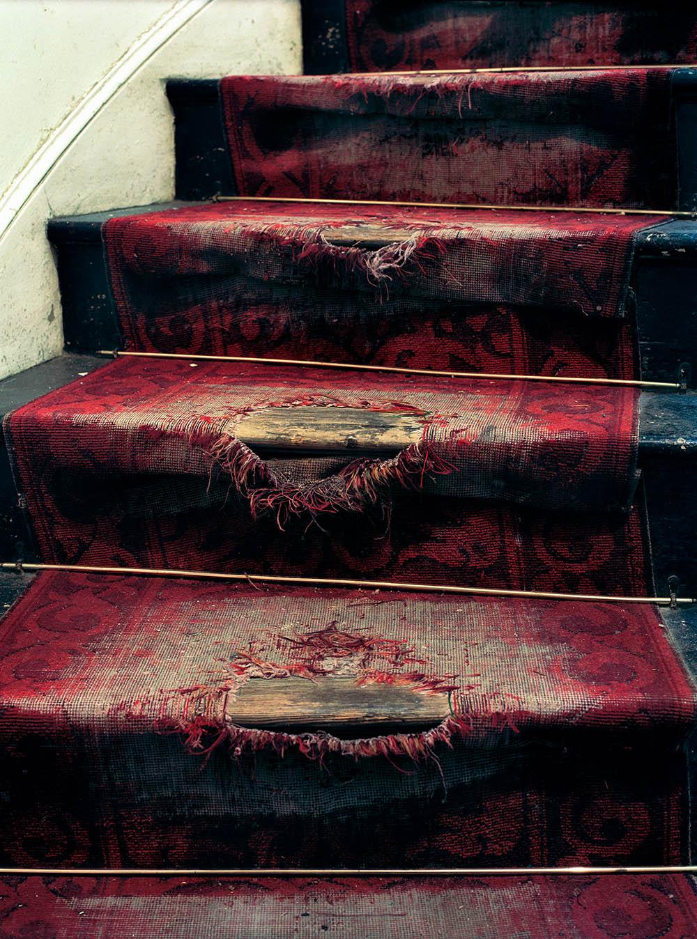 worn out carpet