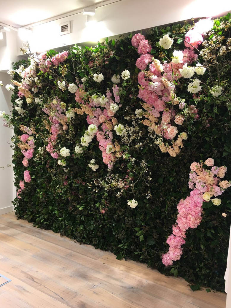 Floral press day Wall for Triumph launch
